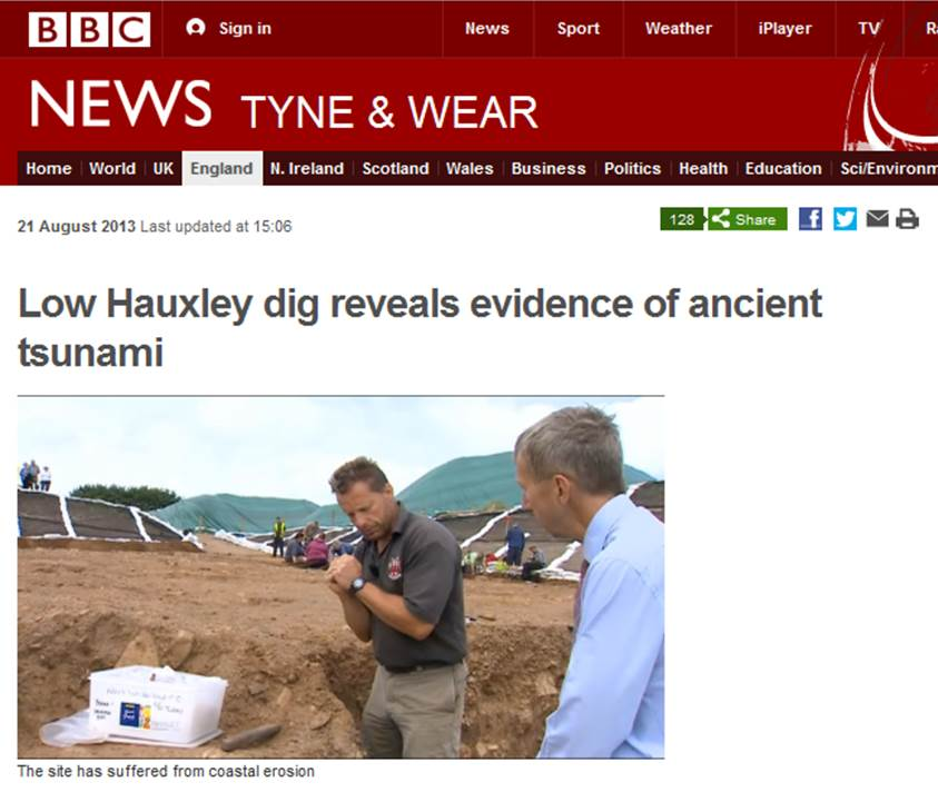 More from Low Hauxley | Mesolithic tsunami evidence (1/2)